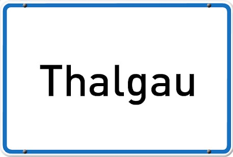 Ortsschild-Gemeinde Thalgau 2-Zuschnitt